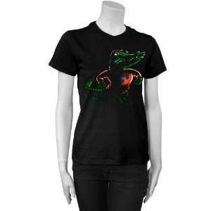 Florida Gators Black Ladies Blacked Out T shirt