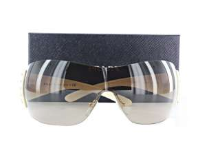 NEW Prada SPR 29L ZVA 6S1 Ivory / Brown Grad Sunglasses