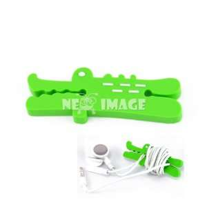 earphone/ipod wire cord winder organizer crocodile: Office Products