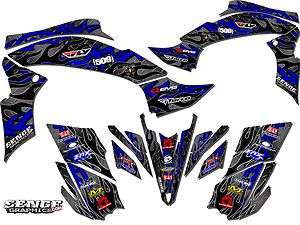 250 YAMAHA GRAPHICS KIT DECO STICKERS ATV QUAD 4 WHEELER FOUR