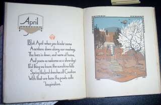 All the Year Round James Whitcomb Riley Plates Gustave Baumann