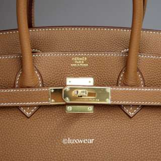 Gold Togo & Gold 30cm HERMES BIRKIN BAG