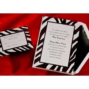Wild Side Zebra Print Wedding Invitations Health