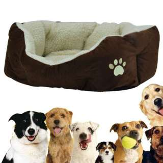 New Luxury warm round unique soft Pet dog cat puppy bed small