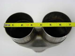 100% T304 Stainless Universal High Performance 3 Inch Y Pipe