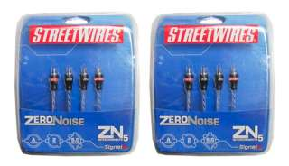 Streetwires ZN5250 2 Ch RCA Car/Home Cable Wire 16 Ft