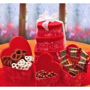 Love Affair with Chocolate Valentines Day Gourmet Candy Gift Tower
