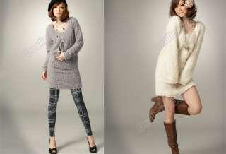 Winter Spring Korean Fashion Womens Plush Render Skirt Dress