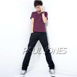 PJ Mens Casual cotton Rivet Long Straight Fashion Pants/Trousers, 5CL