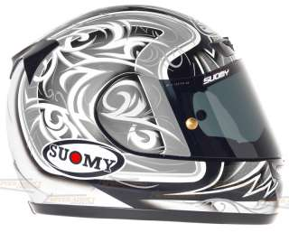 Suomy Apex Spec 1R Tornado Silver Full Face Motorcycle Helmet Large