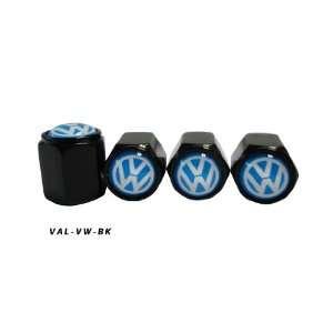 AGT Aluminum Black Valve Caps Tire Cap Stem for VW Wheels