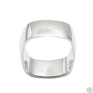 Sterling Silver Wide Engravable Ring SZ 7 A6502