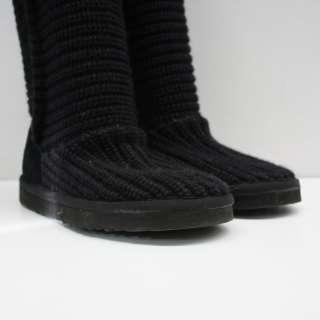 Ugg Australia Black Classic Cardy Boots US 5
