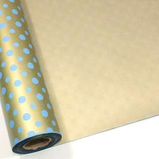 Gold Blue BULK Gift Ream Roll Wrapping Paper 65ft 20M