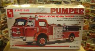 AMT Plastic Model Kit # 6669 LaFRANCE PUMPER VINTAGE Tractor TRUCK 1