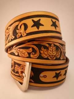 Hand Made/Tooled Leather Belt. 11 Fantastic Designs!D1