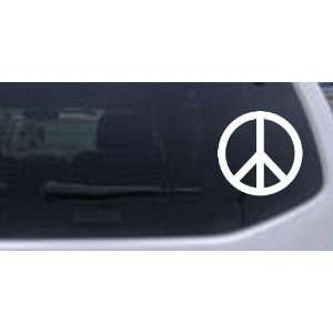 Peace Sign Symbol Car Window Wall Laptop Decal Sticker    White 20in X