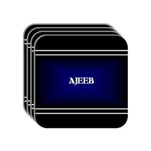 Personal Name Gift   AJEEB Set of 4 Mini Mousepad Coasters (black