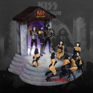2007 KISS Love Gun Mister   Sexy Ladies Figure Diorama