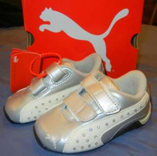 CAT for Kids/ Toddlers/ Baby silver white GIRLS SNEAKERS SHOES
