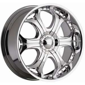 Akuza Spur 22x9.5 Chrome Wheel / Rim 5x115 & 5x120 with a 15mm Offset