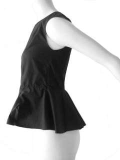 Marni FW 10 waist defining peplum cotton shirt top blouse 38 2 4