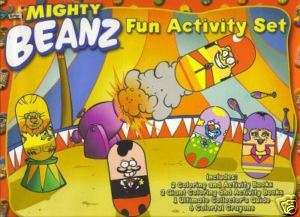 Mooses MIGHTY BEANZ Fun ACTIVITY SET Beanz Books NEW