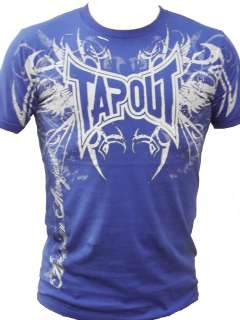 Darkside UFC MMA Cage fighter Tee New Mens Rich Royal Blue Rare Colour