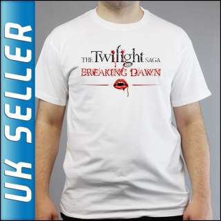 Saga Breaking Dawn Collection DVD Book White T shirt All Sizes
