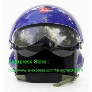 Blue Jet Pilot Flight Helmet   USAF Air Force