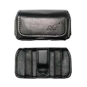 Premium Horizontal Leather Carrying Case Pouch for Samsung M510, R310