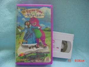 Barney RHYME TIME RHYTHM not relased on home video vhs 045986020390