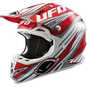 UFO WARRIOR H1 GRAPHIC MX DIRT MOTOCROSS HELMET RED LG Automotive