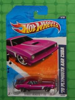 Hot Wheels Street Beasts #83     70 PLYMOUTH AAR CUDA   Pink