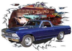 You are bidding on 1 1966 Blue Chevy El Camino Custom Hot Rod