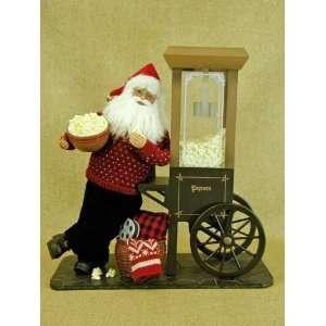 Santa Claus doll by Karen Didion originals Popcorn vendor