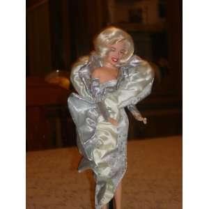 Marilyn Monroe Doll in Silver Dress
