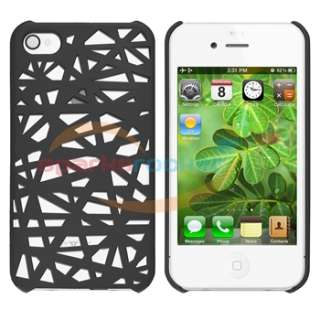 Smoke Bird Nest Plastic Case+Privacy Filter Protector For Apple iPhone