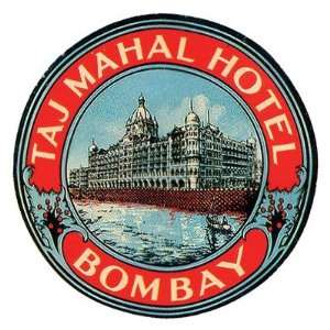 Taj Mahal Hotel Bombay Luggage Tag Stickers Arts, Crafts