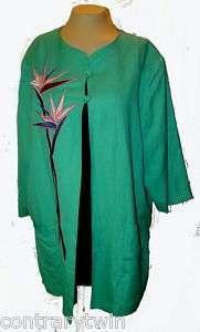 Blazer Jacket Bob Mackie Wearable Art Bird Paradise XL