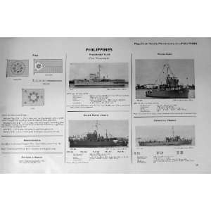 1953 54 Battle Ships Philippines Flags Minesweeper Apo: Home & Kitchen