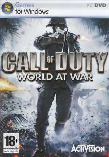 NEW Call of Duty World at War for PC DVD ROM) SEALED NEW 047875332478