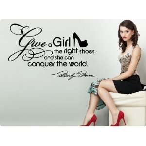 HUGE Marilyn Monroe Give A Girl Shoes.Conquer the World