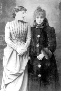 Lillie Langtry and Sarah Bernhardt  1887 actress singer