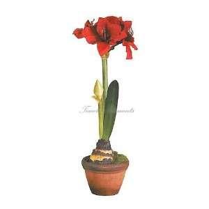 Amaryllis, Artificial Silk Plant Tree, Home Decor, 2pcs