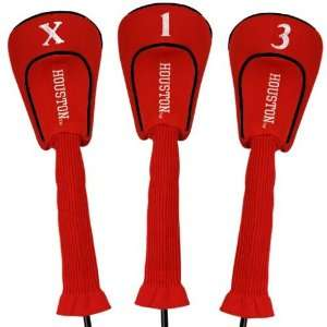 Houston Cougars Red Three Pack Golf Club Headcovers