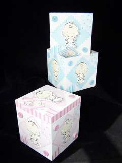 Adorable Baby Boy or Girl Wooden Nursery Box Container w/ Lid   NEW in