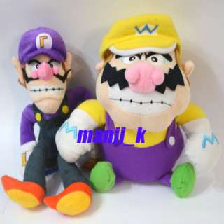 NEW Super Mario Bro Plush Doll Figure Wario ,Waluigi