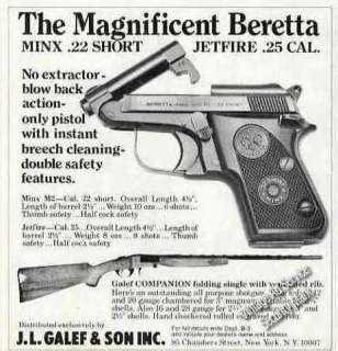 This scarce Beretta Minx advertisement looks good It is perfect for