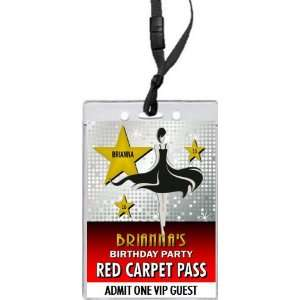 Step and Repeat Red Carpet VIP Pass Invitation
